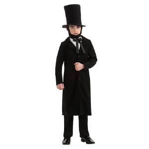 Medium Boys President Abraham Lincoln Kids Costume