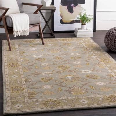 Cicero Ash Gray 2 ft. x 4 ft. Hearth Indoor Area Rug