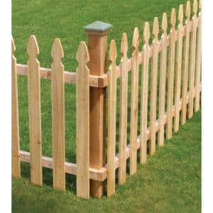 5/8 in. x 3-1/2 in. x 3-1/2 ft. Western Red Cedar French Gothic Fence Picket (27-Pack)