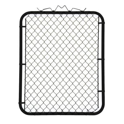 42 in. x 48 in. Chain Link Fence Metal Gate - Black