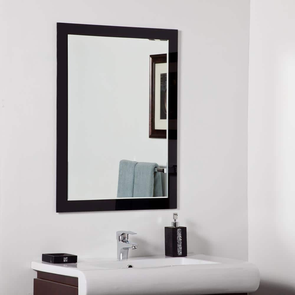 Decor Wonderland 24 In W X 32 In H Frameless Rectangular Beveled Edge Bathroom Vanity Mirror In Silver Dwsm515 The Home Depot
