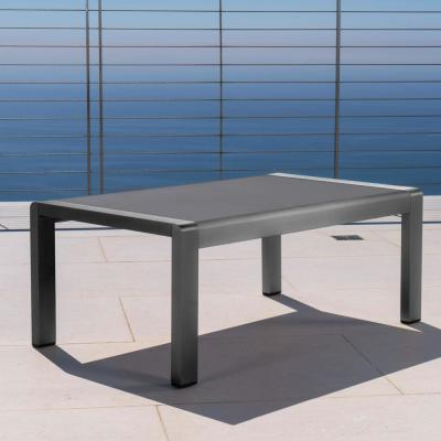 Cape Coral Gray Aluminum Outdoor Coffee Table