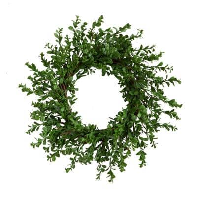 20 in. Boxwood Artificial Wreath