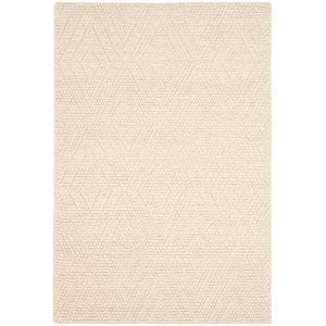 Natura Ivory 4 ft. x 6 ft. Solid Diamonds Area Rug