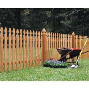 5/8 in. x 3-1/2 in. x 3-1/2 ft. Western Red Cedar French Gothic Fence Picket (13-Pack)