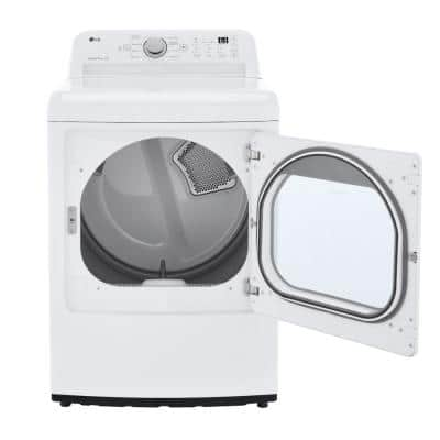 7.3 cu. ft. White Ultra Large High Efficiency Gas Dryer