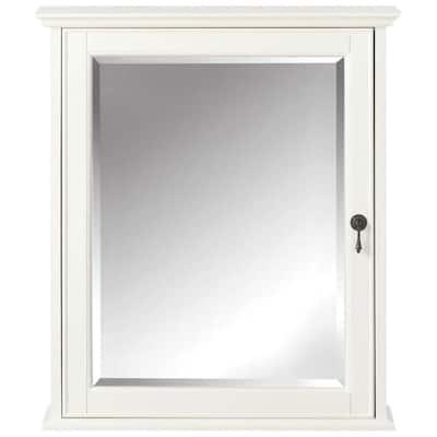 Newport 24 in. W x 28 in. H Framed Bathroom Cabinet in Ivory