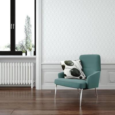 Myrtle Geo White/Silver Wallpaper Sample