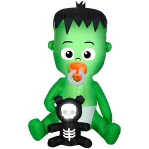 66.14 in. Tall Animated Halloween Inflatable-Nom Nom-Baby w/Pacifier