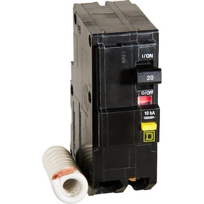 QO Qwik-Gard 20 Amp 2-Pole GFCI Breaker