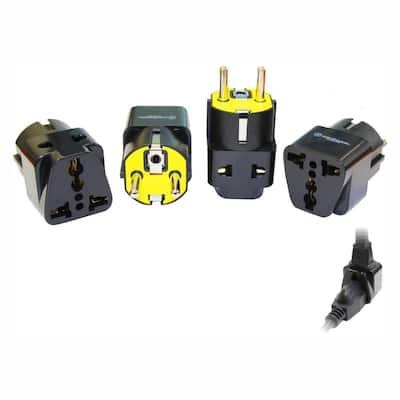 Universal to German 2-in-1 Plug Adapter (4-Pack)