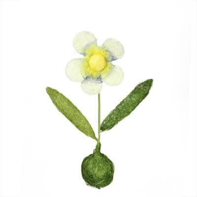 """19"""" Green  Yellow and Blue Spring Floral Table Top Decoration"""