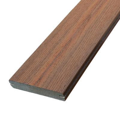 0.925 in. x 5-3/8 in. x 16 ft. Jatoba Grooved Edge Capped Composite Decking Board