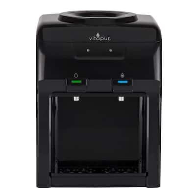 3-5 Gal. Cold/Room Temperature Countertop Water Cooler Dispenser in Black