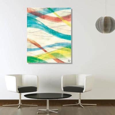16 in. x 20 in. Strands of Paint Metal Wall Art Print