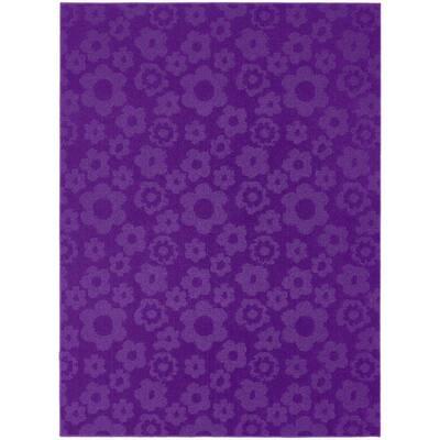 Flowers Purple 5 ft. x 7 ft. Area Rug