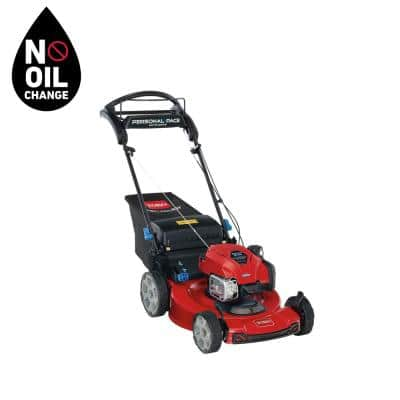 Recycler 22 in. Briggs & Stratton SmartStow Personal Pace High-Wheel Drive Gas Walk Behind Self Propelled Lawn Mower