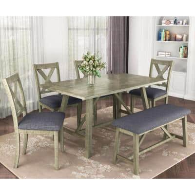 Gray Dining Room Sets Kitchen Dining Room Furniture The Home Depot