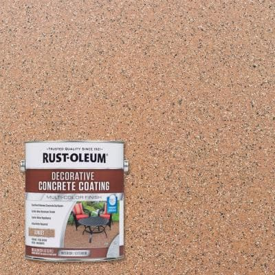 1 gal. Sunset Decorative Concrete Interior/Exterior Solid Stain (2-Pack)
