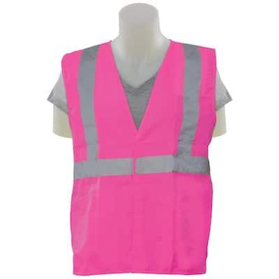 S725 XL Hi Viz Pink Poly Tricot 5-Point Break-Away Safety Vest