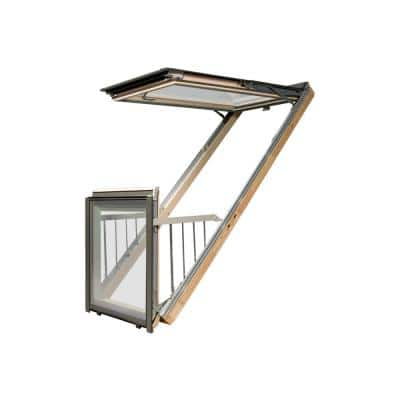 FGH-V P2 37/100 (RO 39 in. x 101 in. ) Manual Venting Deck-Mounted Skylight Balcony Window w/Laminated Low-E Glazing
