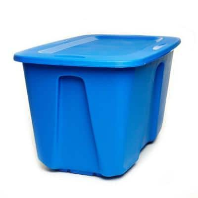 32 Gal. Large Storage Bin in Blue (2-Pack)