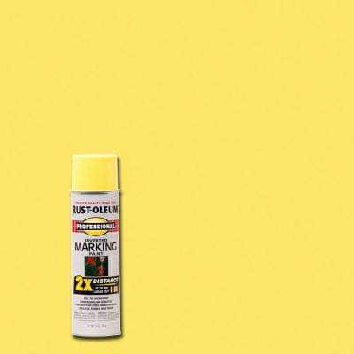 15 oz. High Visibility Yellow 2X Distance Inverted Marking Spray Paint (6-Pack)