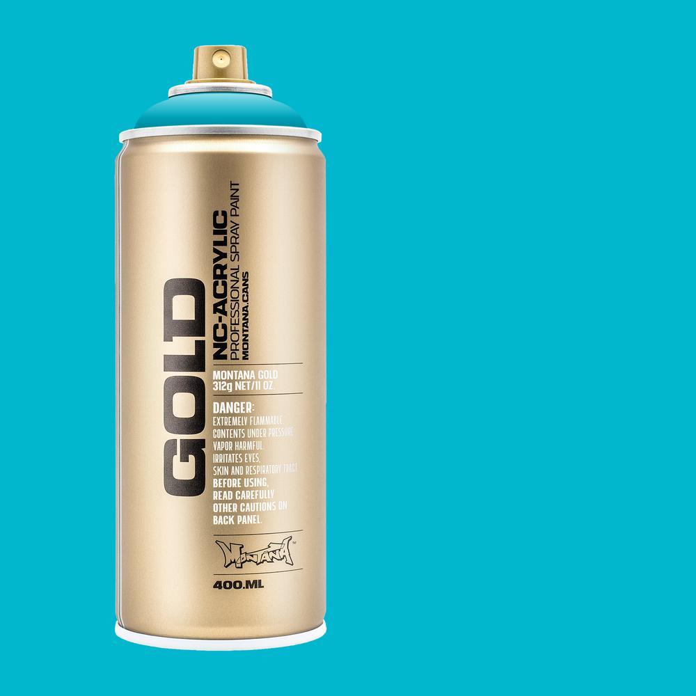 11 oz. GOLD Spray Paint, Process Color, 100% Cyan