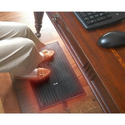"Electric Foot Warmer Mat 14"" X 21"" Keep Feet Warm Office Space Heater"