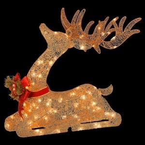 31 in. Pre-lit Resting Reindeer