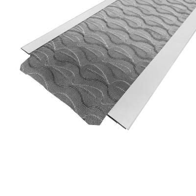 3 ft. L x 5 in. W Flex Fit Aluminum Gutter Guard with Stainless Steel Micro Mesh (25-Pieces Equals 75 ft.)