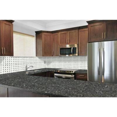 3 in. x 3 in. Granite Countertop Sample in Blue Pearl