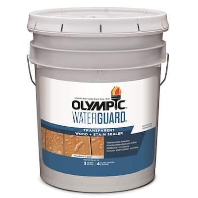 WaterGuard 5 gal. Woodland Cedar Transparent Wood Stain and Sealer