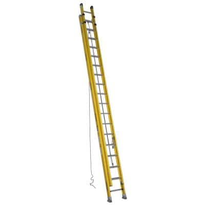 36 ft. Fiberglass D-Rung Extension Ladder with 300 lb. Load Capacity Type IA Duty Rating