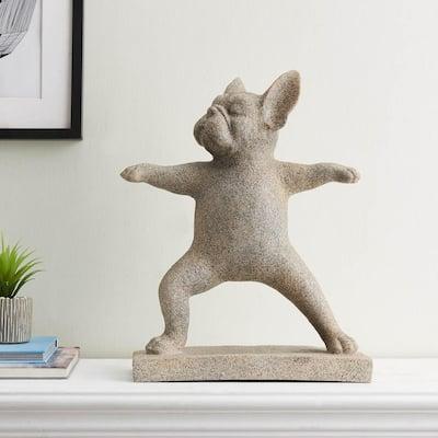 Yoga Dog 18 in. Resin Statue