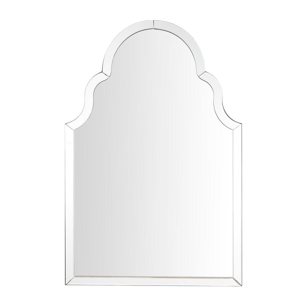 Home Decorators Collection Medium Ornate Arched Beveled Glass Classic Accent Mirror 35 In H X 24 In W H5 Mh 258 The Home Depot