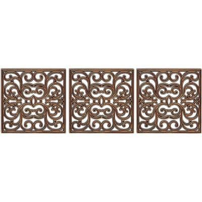 15 in. x 15 in. Copper Stepping Tiles