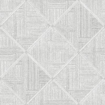 Cade Grey Geometric Wallpaper Sample