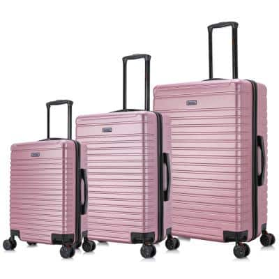 Deep Lightweight Hardside Spinner 3-Piece Luggage Set 20 in., 24 in., 28 in. in Rose Gold