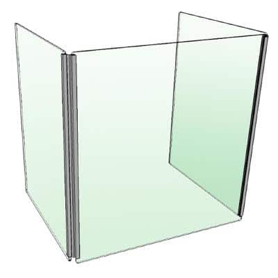 24 in. x 20 in. Protective Desk Sneeze Guard Shield