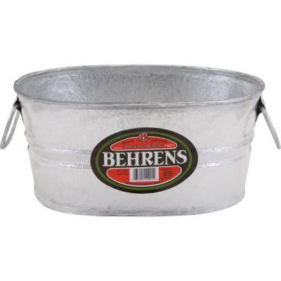 1 Gal. Hot Dipped Steel Oval Tub