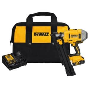 20-Volt MAX XR Lithium-Ion Cordless Brushless 2-Speed 21° Plastic Collated Framing Nailer with 4Ah Battery and Charger