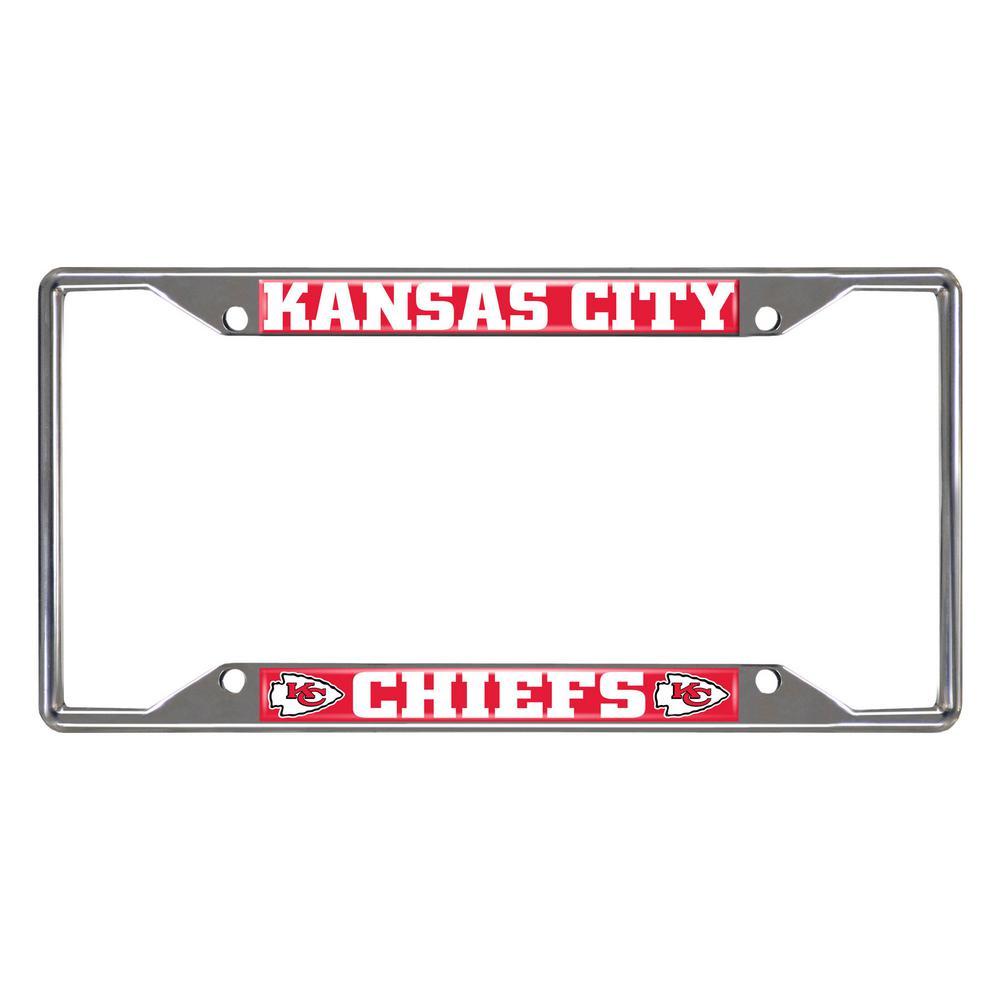 NFL - Kansas City Chiefs Chromed Stainless Steel License Plate Frame