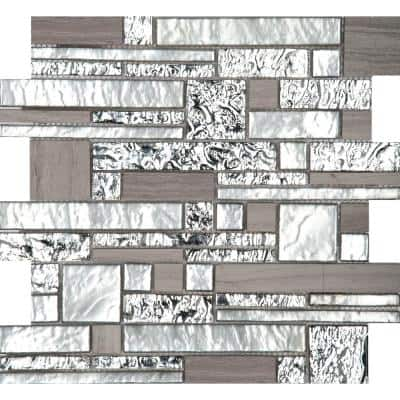 Vista Panorama Glossy 11.81 in. x 11.81 in. x 8mm Glass Mesh-Mounted Mosaic Tile (0.97 sq. ft.)
