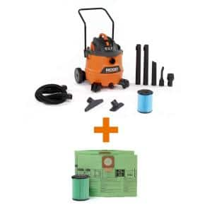 16 Gallon 6.5-Peak HP NXT Wet/Dry Shop Vacuum, Fine Dust Filter, Hose, Accessories, OSHA and HEPA Filtration Kit