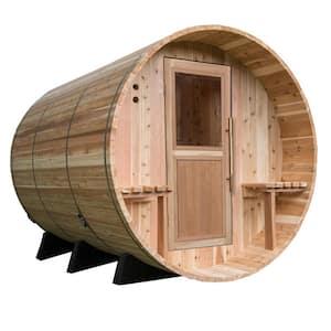 Huntington Cedar 6-Person Electric Canopy Barrel Sauna