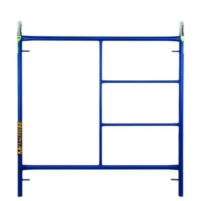 5 ft. H x 5 ft. W Blue Steel Mason Scaffold Construction Frame Set with Coupling Pins and Spring Locks