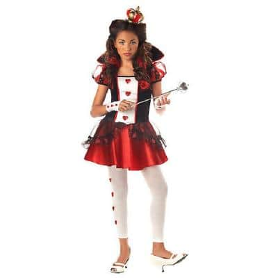 X-Large Girls Queen of Hearts Kids Costume
