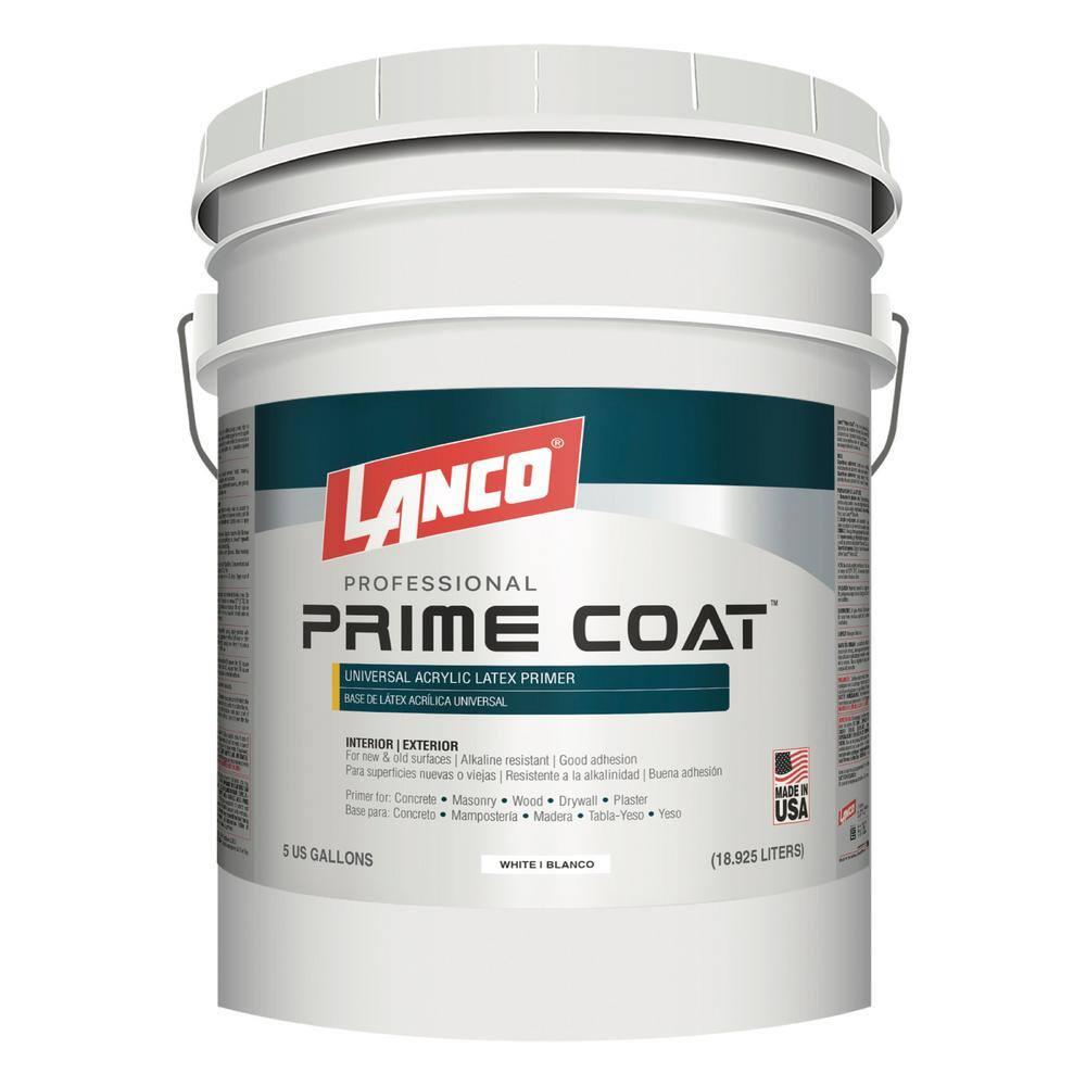 Lanco 5 gal. Prime Coat Acrylic Latex Interior/Exterior Wall Primer