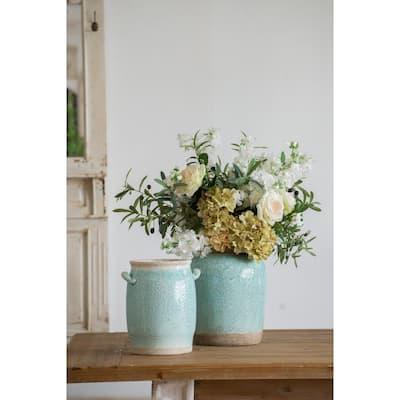 Pale Turquoise Candia Ceramic Vase